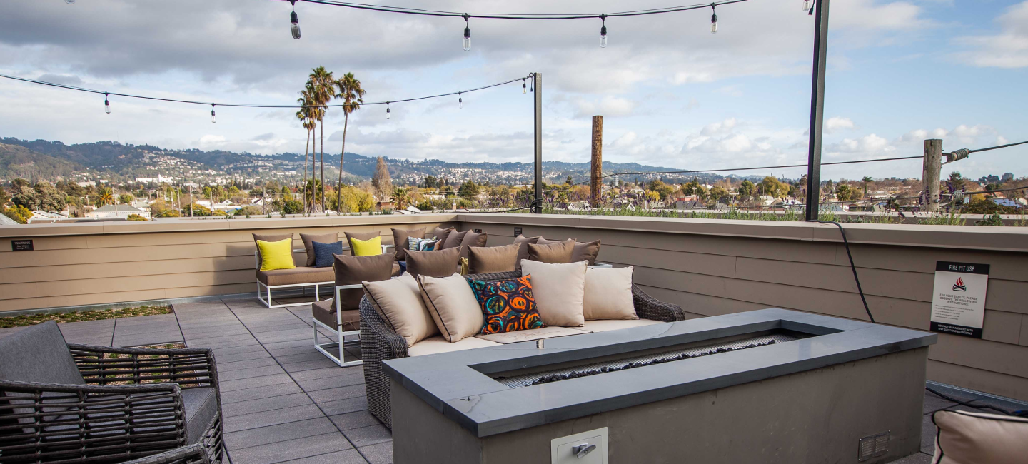 Higby Rooftop Lounge With Seating Space & Berkeley Views